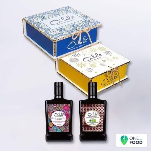 Geschenkbox Majolika Olivenol Essig 2 X 500 Ml